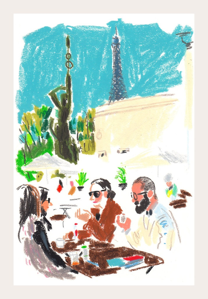 Exclusive to Paris Fashion Week: Damien Florébert Cuypers's quick illustrations of the Paris Fashion Week | Snap Sketch - NYTimes.com