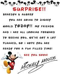 surprise going to disney world letter - Google Search