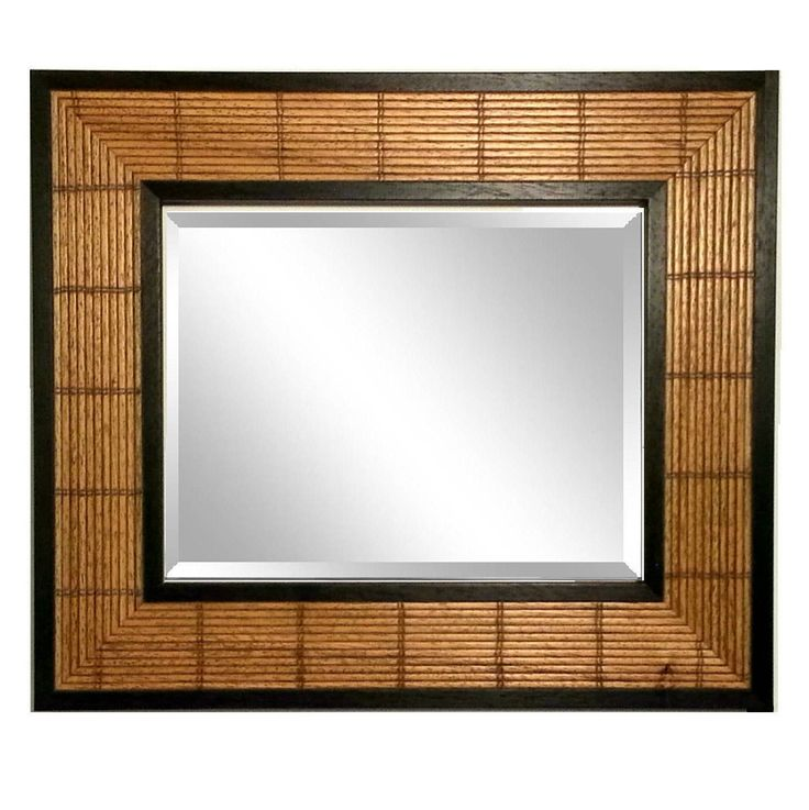 41x29 Bamboo Framed Beveled Mirror, Asian Wall Decor, Handmade in Italy Italy FineFrameandPrints on Etsy  .....starts $60 + S&H