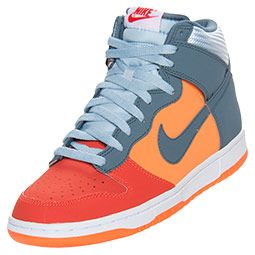 Men's Nike Dunk High Basketball Shoes| FinishLine.com | Team Orange/Armory/Total Orange
