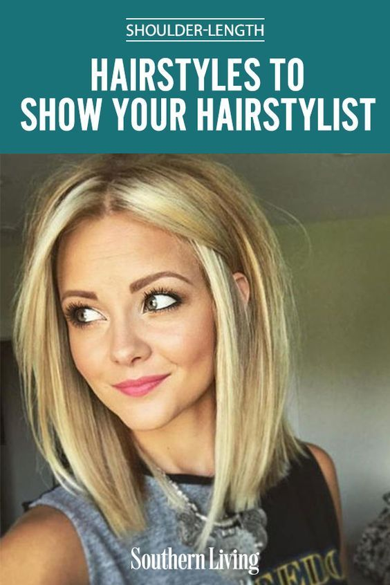 Shoulder-Length Haircuts To Show Your Hairstylist Now | We're thinking a shoulder-length haircut might be the lucky ticket. When heading to your next hair appointment, tuck one of these gorgeous shoulder-length hairstyles up your sleeve and leave feeling fresh and stylish! #beautytips #southernliving #hair #hairstyle