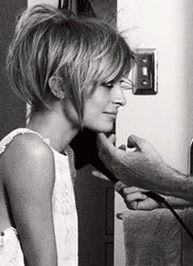 Used this picture as inspiration for a short hair cut 5 years ago, so cute! (her hair is actually just pinned up) Oh...if I could only have short hair..... Love her nose.
