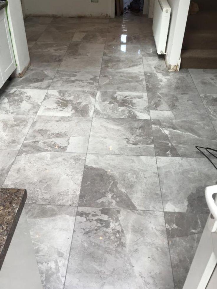 Porcelain tile, marble effect