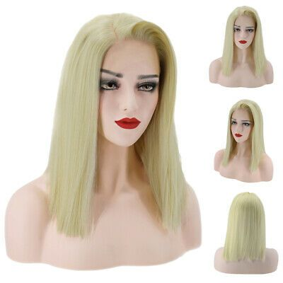 Fashion Women Blonde Long Straight Hair Wigs Lace Front Synthetic Cosplay Wigs #affilink #cosplay #animecosplay #costume #
