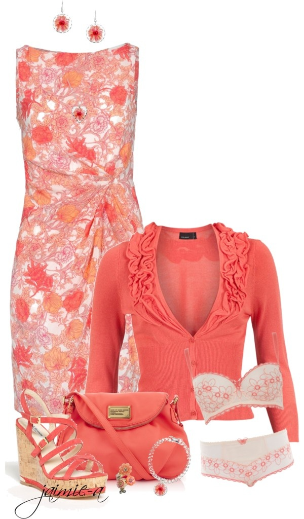 """Pretty In Peach"" by jaimie-a on Polyvore"