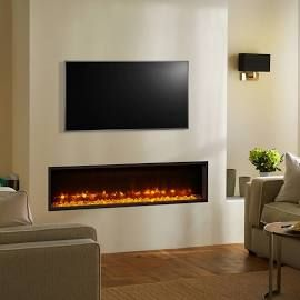 Gazco Fires, Radiance 135R Inset Electric Fire with Remote Control (Fuel Bed: White and Glass Stones)