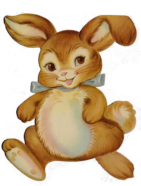 bunny clip art Vintage easter