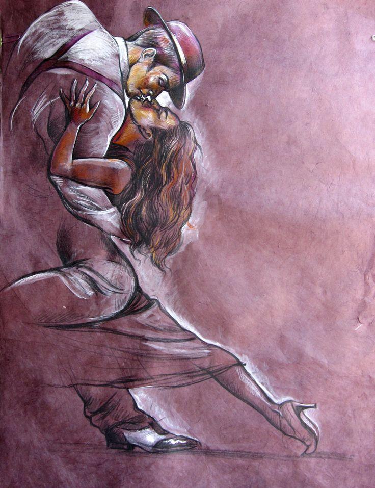 Olga Vinnitskaya. Tango, Zeichnung auf Kahari-Papier.