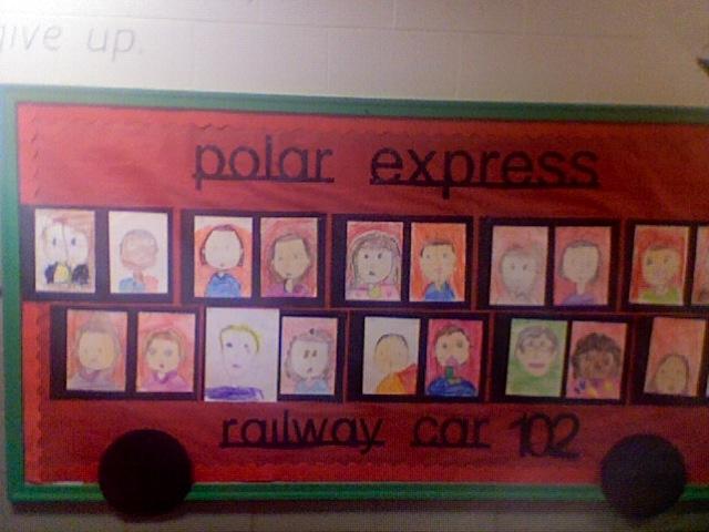 Polar Express Bulletin Board 2011 School December