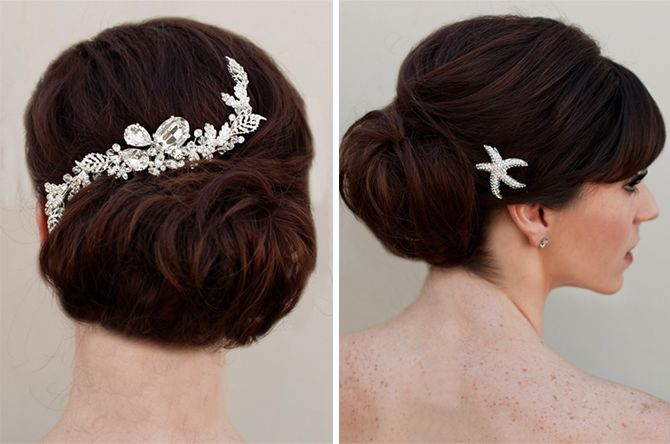 Vintage hair combs from Hair Comes the Bride | via Originální Svatba