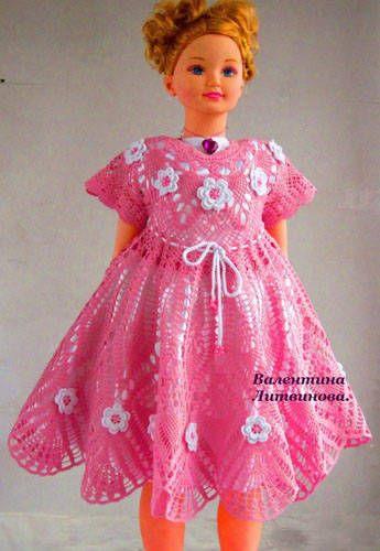 örgü çocuk elbisesi