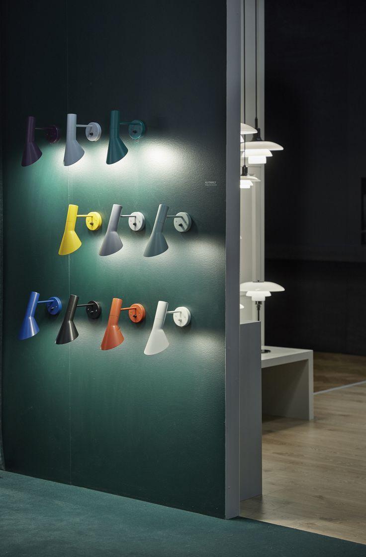 Los nuevos colores de la lámpara AJ de Louis poulsen. Disponibles en para marzo..
