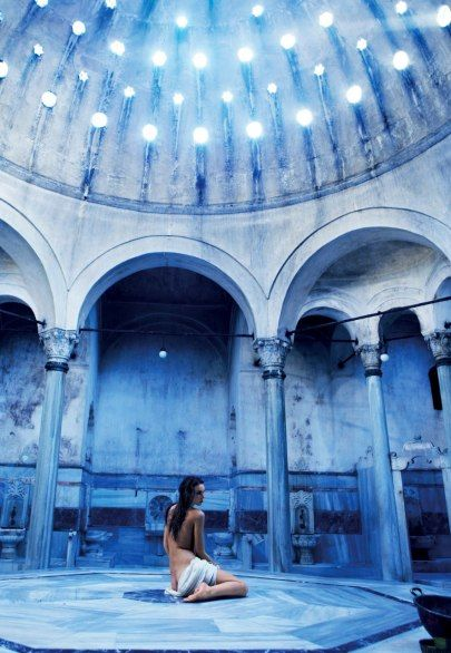 The marble interior of the Cağaloğlu Hamami is miraculously intact.