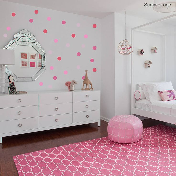 17 best images about polka dot decals on pinterest for Girls bedroom paint ideas polka dots