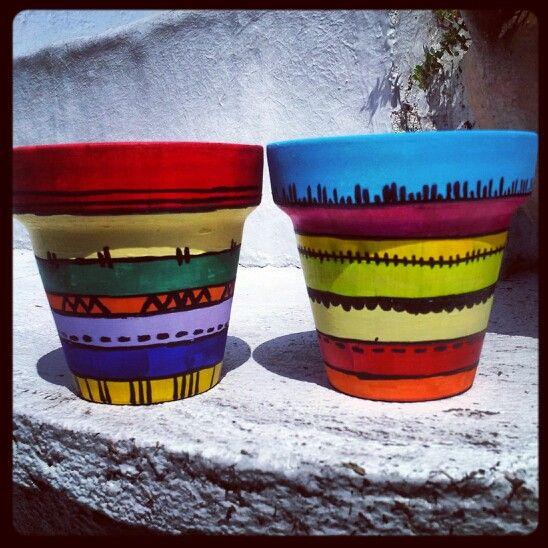 96 Best Images About Wpc Planter Pot: 96 Best Images About Painted Pots On Pinterest