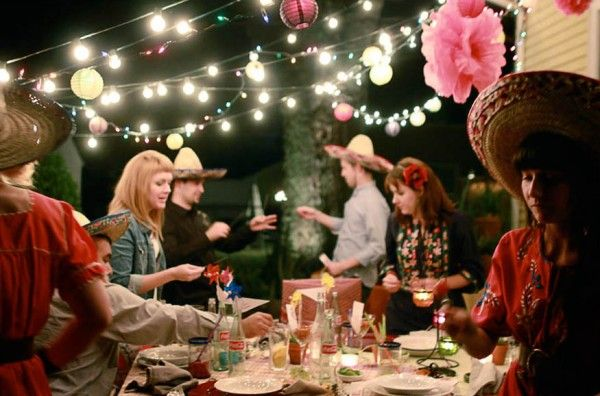 buenos noches adult birthday party 2Adult Birthday, Paper Pom Pom, Birthday Parties, Tissue Paper Pom, String Lights, Parties Ideas, Lights Ideas, Coca Cola Bottle, Parties Lights