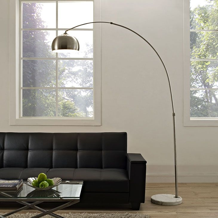 Sunflower round floor lamp in white reach the highest point with this classic work of distinction