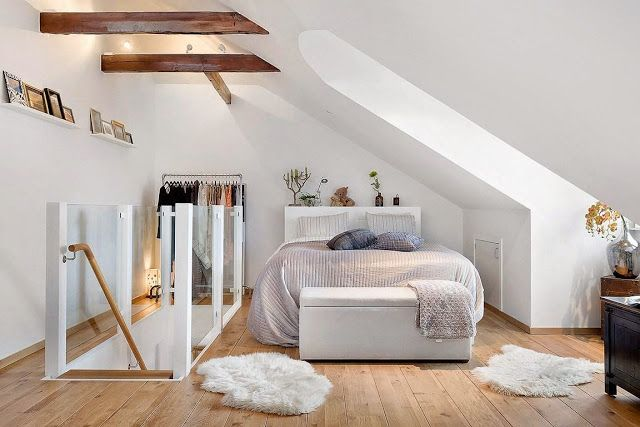 Gorgeous attic bedroom (via Bloglovin.com )