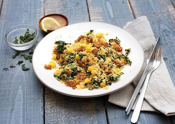 Winterse couscous met koolraap en kipgehakt Voor jouw gemak is het kipgehakt al gekruid!