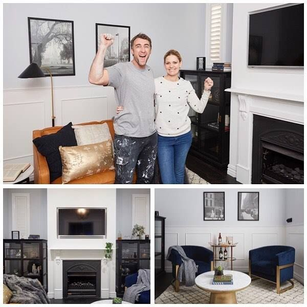 Spoiler Alert: Congratulations to @hannahandclint on this week's win - what a stunning glamorous relaxing not-a-bedroom room you created! Shop the winning look here: http://ift.tt/2wfMUo2 (including those gorgeous black and white prints for only $7.95 each!) #9theblock #theblock #roomreveals #blockshopper
