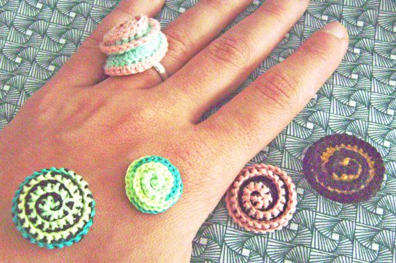 cotton ring adaptable. Crochet by queliodehilo on Etsy, €5.00