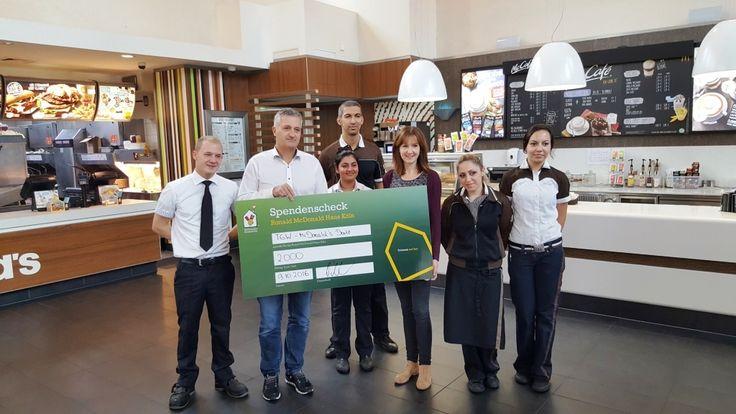 2.000 Euro Spende an das Ronald McDonald Haus Köln #Life #Stadtgespräch #Amsterdamer_Straße #Behandlung #Eltern