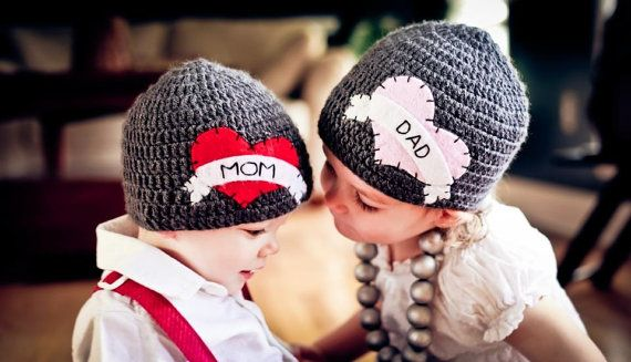 Brother & Sister Matching I Heart Hats With by HunkyDoriBoutique