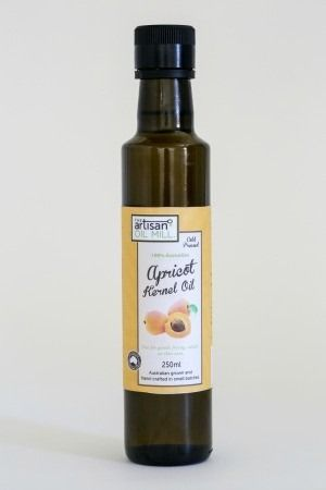 Apricot Kernel Oil, Australian grown, cold pressed using artisan extraction method.......The Artisan Oil Mill Apricot Kernel Oil is cold pressed using a 300 year old extraction method to produce a strong mazipan flavour and aroma with top nutritional qualities. Enjoy over meals or as a body oil. Great drizzled over fruit salad, game meats, spicy dishes and use in baking for a strong almond flavour.