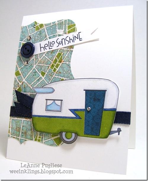 Vintage Camper card by LeAnne Pugliese