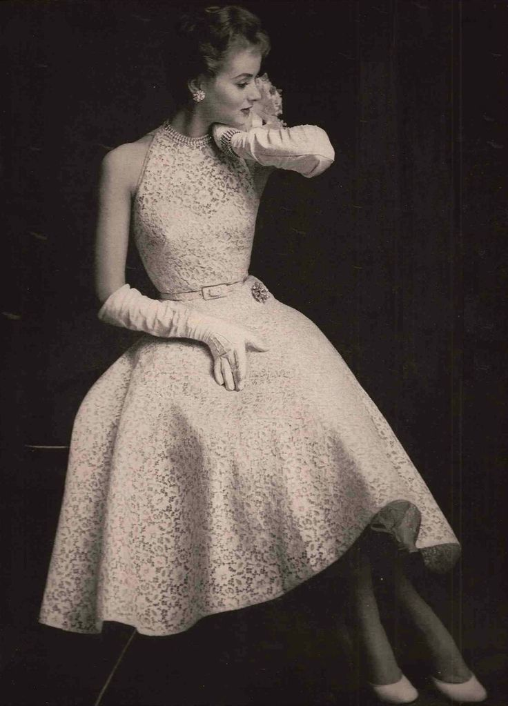 1954 The Contrast Between This Dress And The Rudi