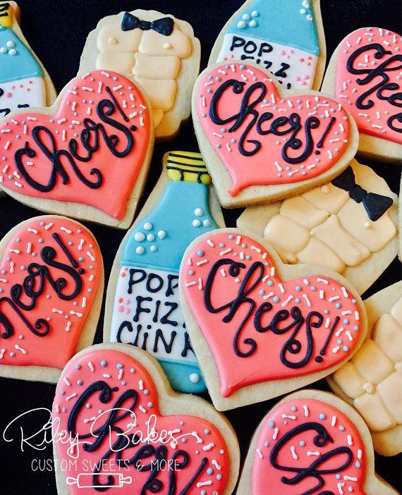 Bachelorette Cookies, heart cookies, bridal shower cookies, bachelorette party favors #affiliate