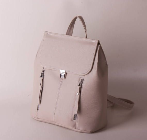 Free shipping Beige backpack Rucksack Women backpack by volaris