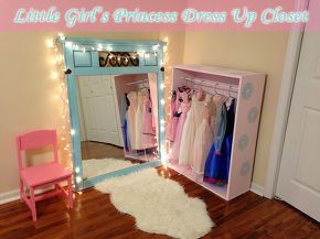 diy little girl s princess dress up closet, bedroom ideas, painted furniture, repurposing upcycling