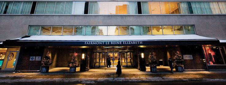 Spend 1 night at the beautiful Fairmont Queen Elizabeth Hotel in the center of Montreal
