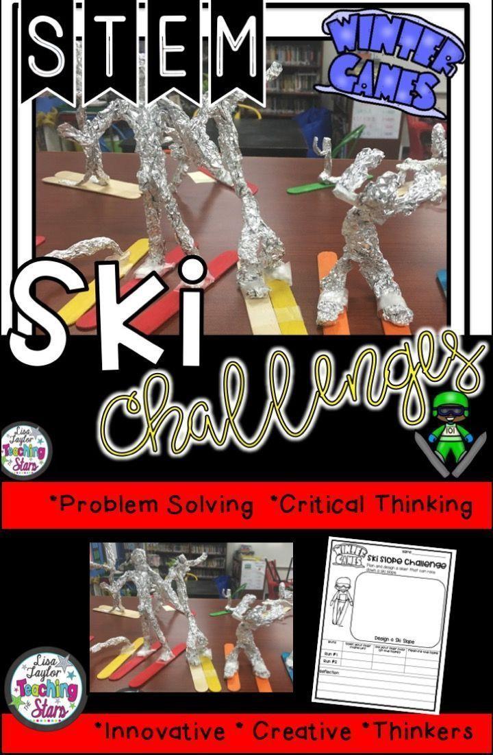 Winter Ski STEM Challenge Stem challenges, Stem
