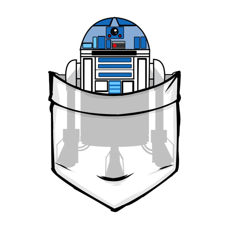 Always have your navigator you into the depths of outer space! What better to keep it in your pocket? #R2D2 #StarWars #RebelAlliance  https://www.teepublic.com/show/73449-pocket-collection-r2