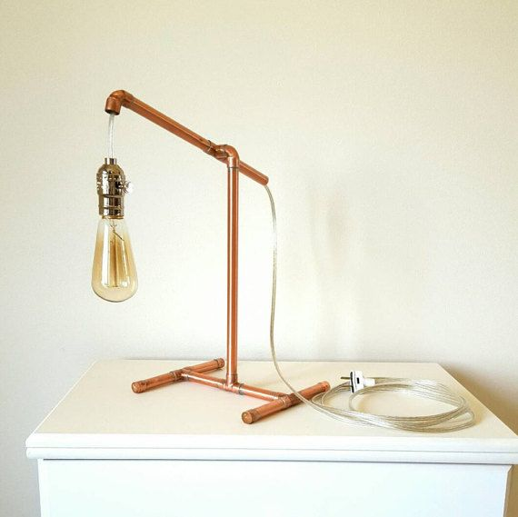 Hey, I found this really awesome Etsy listing at https://www.etsy.com/listing/385635856/polished-copper-lamp-with-hanging-socket