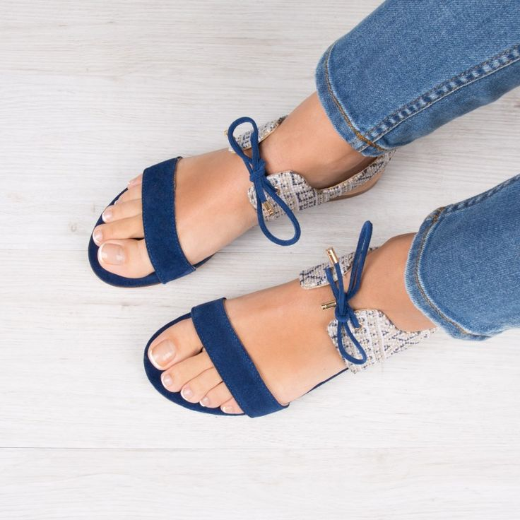 Sandales : La Flâneuse - Bleu Maya