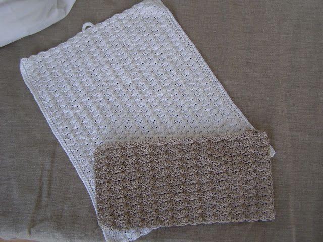 Halager: DIY - Hæklede håndklæder i muslingemønster