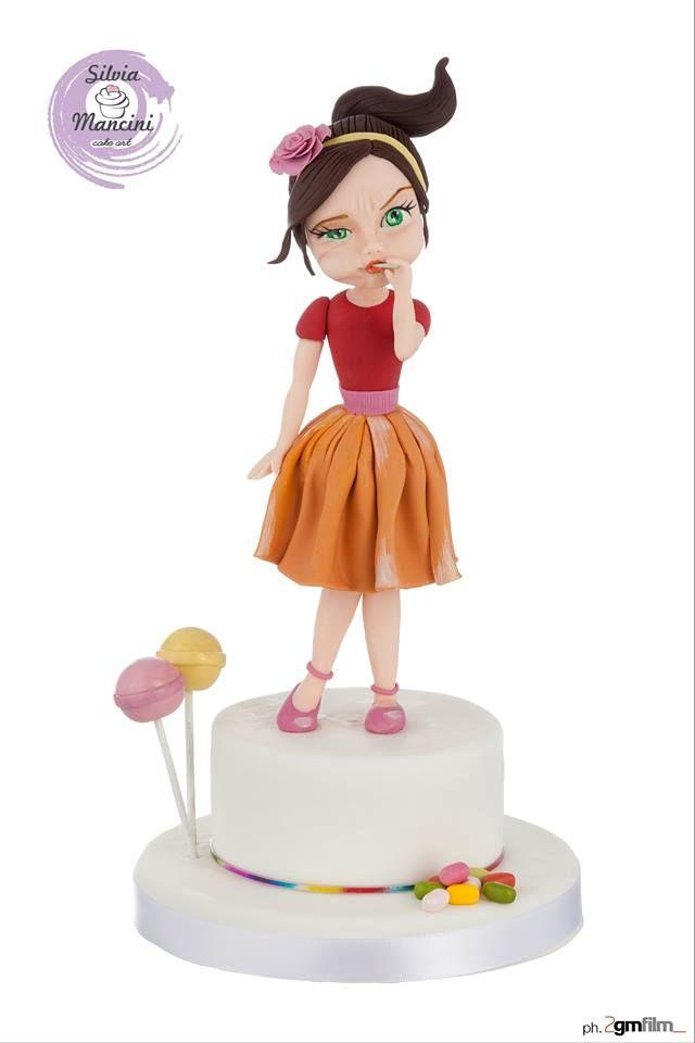 Silvia Mancini Cake art & Co - Cute girl topper