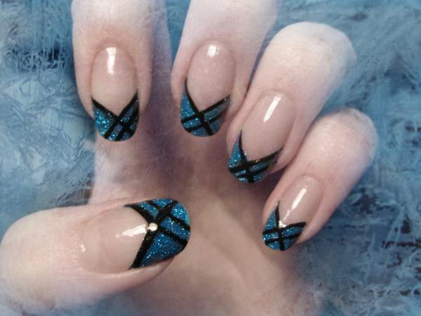 nails, manicure, design, art, winter