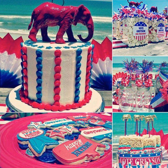 CUTE and unique party idea! Birthday boy for president birthday party via Kara's Party Ideas KarasPartyIdeas.com