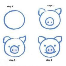 how to draw a pig and other easy animals - Easy Animal Pictures To Draw