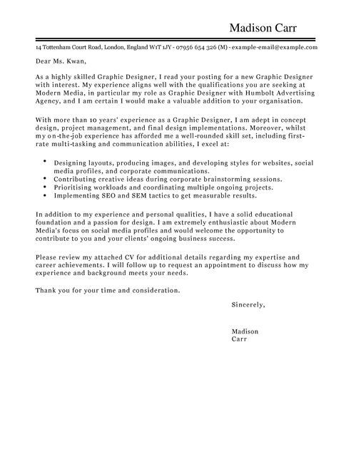 Cover Letter Template Graphic Design Cover Coverlettertemplate