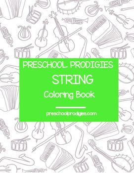 Teach Your Child Some Of The String Instruments With This Preschool Friendly Coloring Book Visit
