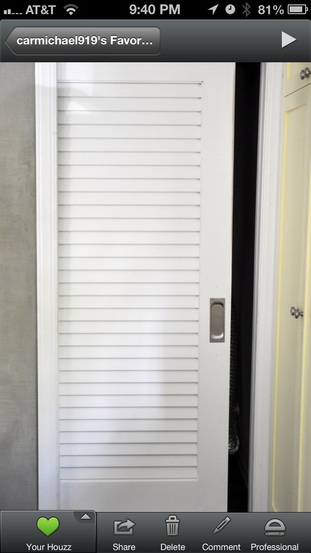 Awesome Louvered Pocket Door