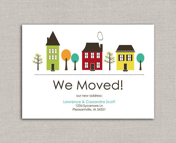 7 best moving template images on Pinterest Moving announcements - organizational change announcement template