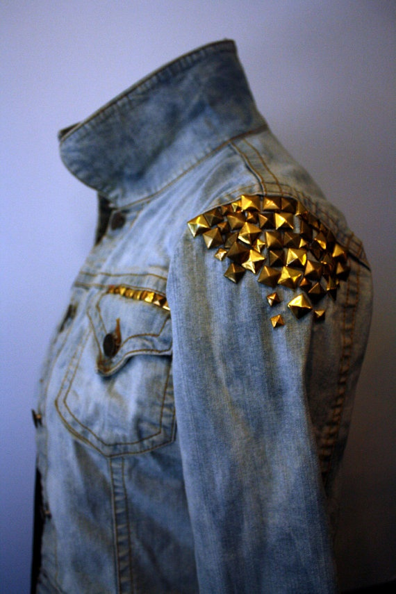 Studded Denim Jacket  // Anarchy in the UK // by prettyghoulish, $65.00