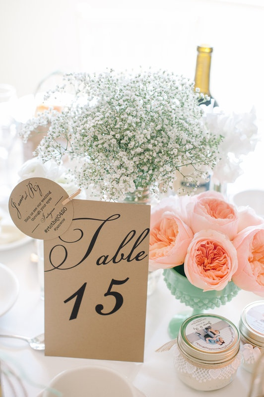 INSTAGRAM Wedding Hashtag and Table #'s designed by Kay Kay | RJ and Jamie's Wedding  Photo By Pictilio