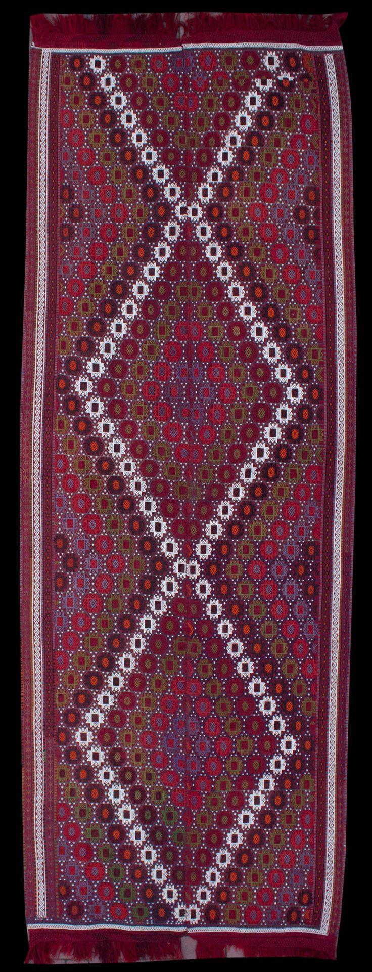 Anatolian Jijim Double Wings Kilim  380 x 153 cm